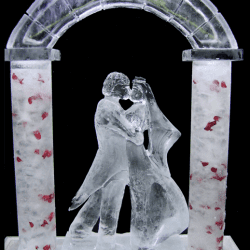 Bride & Groom Ice Sculpture