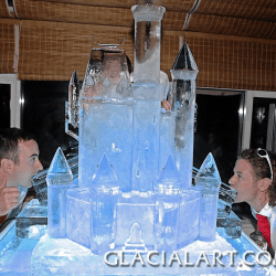 Fairy Tale Ice Castle Sculpture with Luges