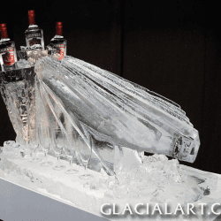 'Art-Deco' style Luge with Ice Bottle Holders