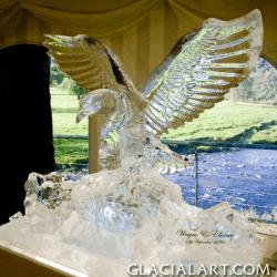 Eagle Ice Sculpture