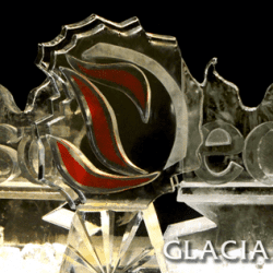East is East Logo Ice Sculpture