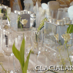 Ice Table Centres with Flowers