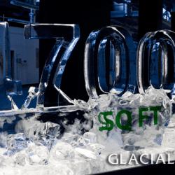 Number Logo Ice Sculpture