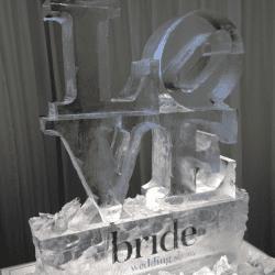 LOVE Ice Sculpture