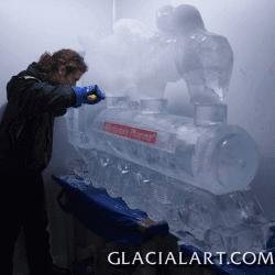 Train Ice Sculpture