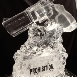Revolver Gun Ice Luge
