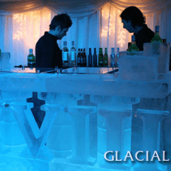Roman Numerals Ice Bar