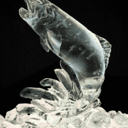 Salmon Leaping Ice Sculpture
