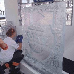 Volvo Ice Carving Wall, Goodwood Festival of Speed 2013