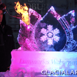 Logo Ice Sculpture, Woburn Abbey