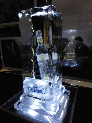 Finlandia Bottle in Ice low res 375x500 - Ice Sculpture Commissions In London