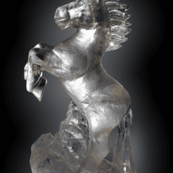 Prancing Horse Ice sculpture