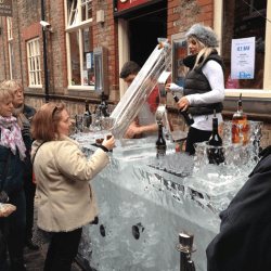 2 metre Ice bar with Luge at York Festival of Angels