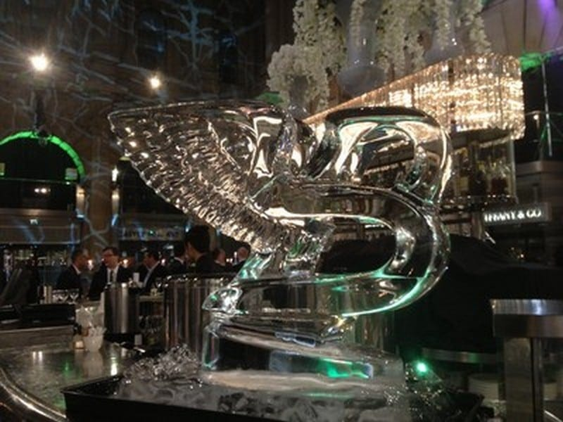 bentley ice sculpture