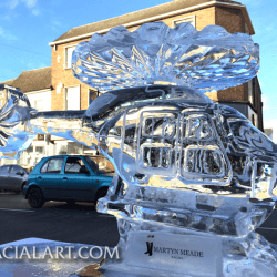 Helicopter Ice Sculpture