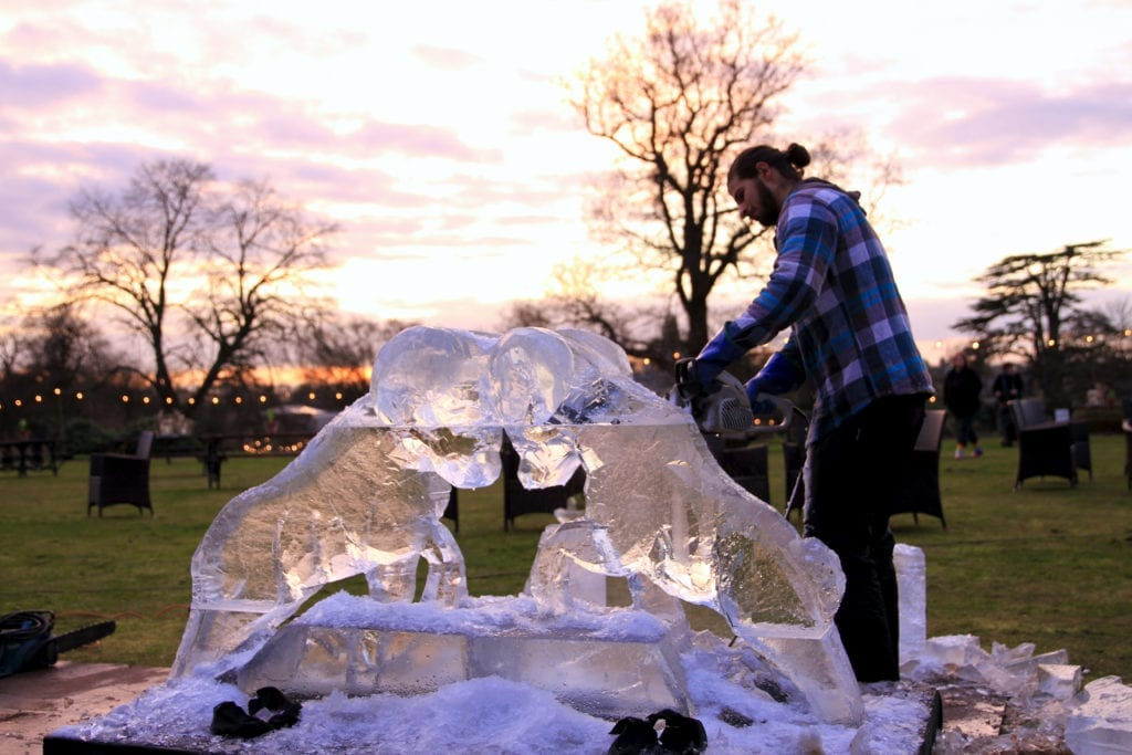 Live Ice Sculpting at Woburn