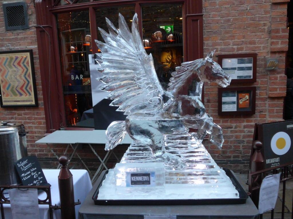 Pegasus Ice Sculpture